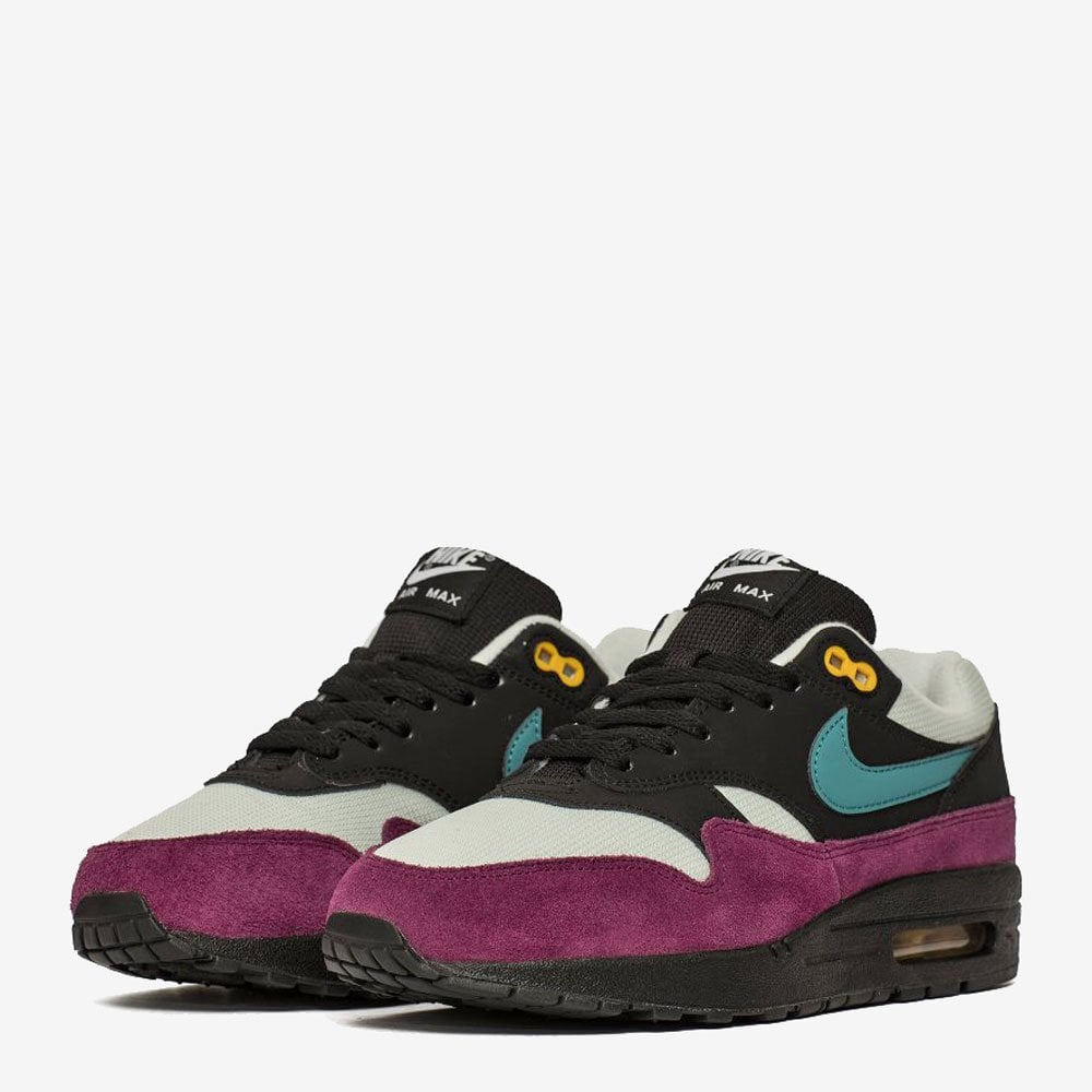 2267f59c449 Nike Women s Air Max 1 - Black   Geode-Teal - Womens Footwear from ...