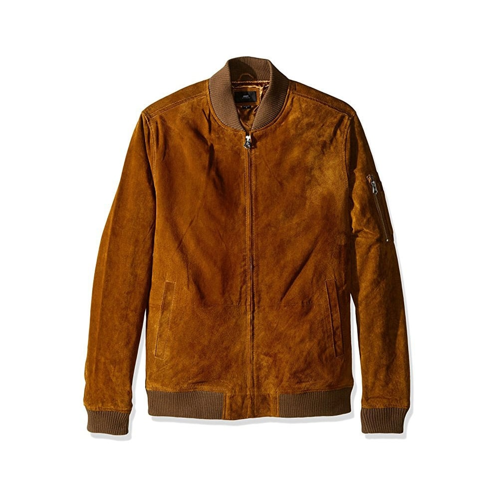 Obey Pilot Suede Jacket Mens Clothing From