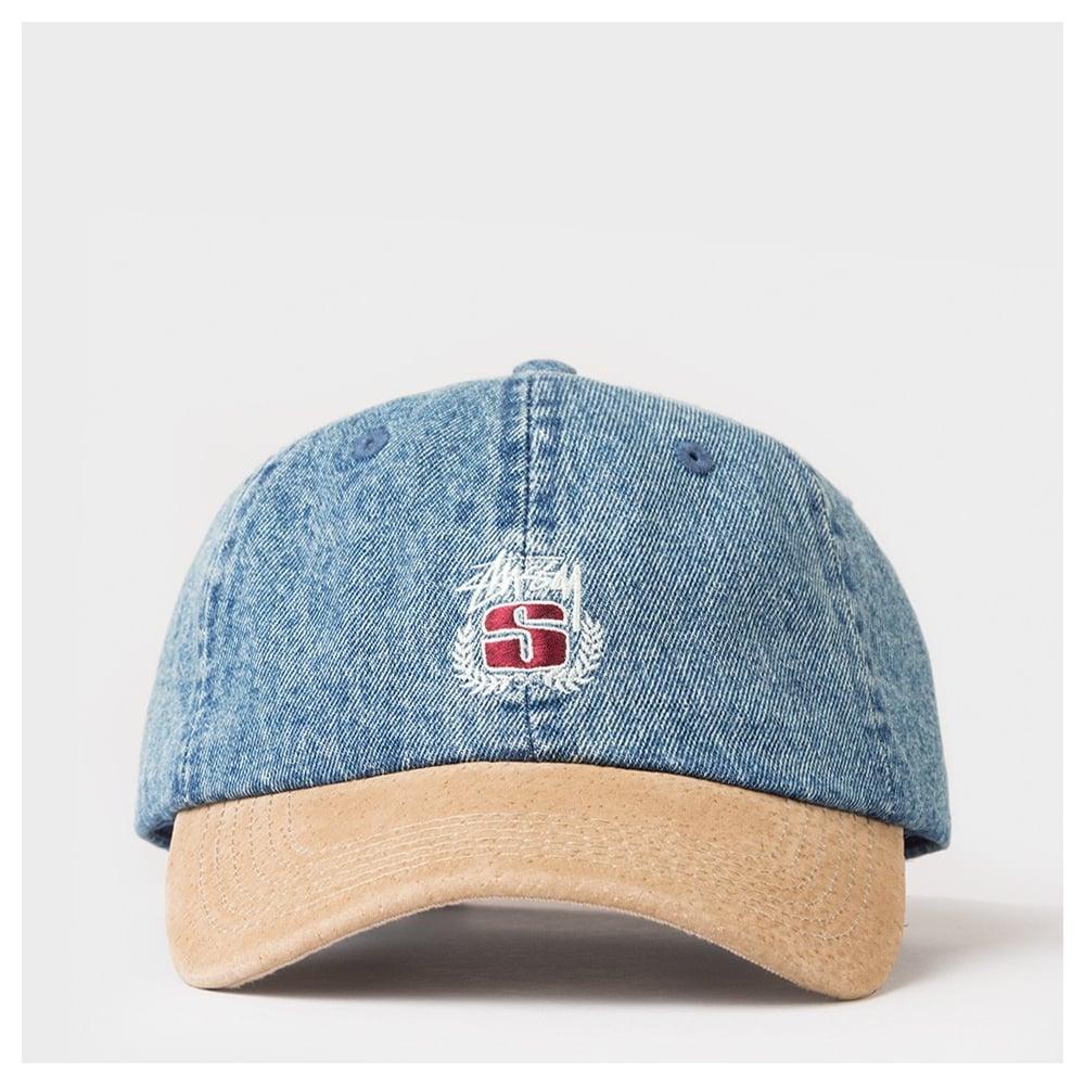 Stussy Denim Suede Crest Cap - Mens Accessories from Cooshti.com ee395e739347