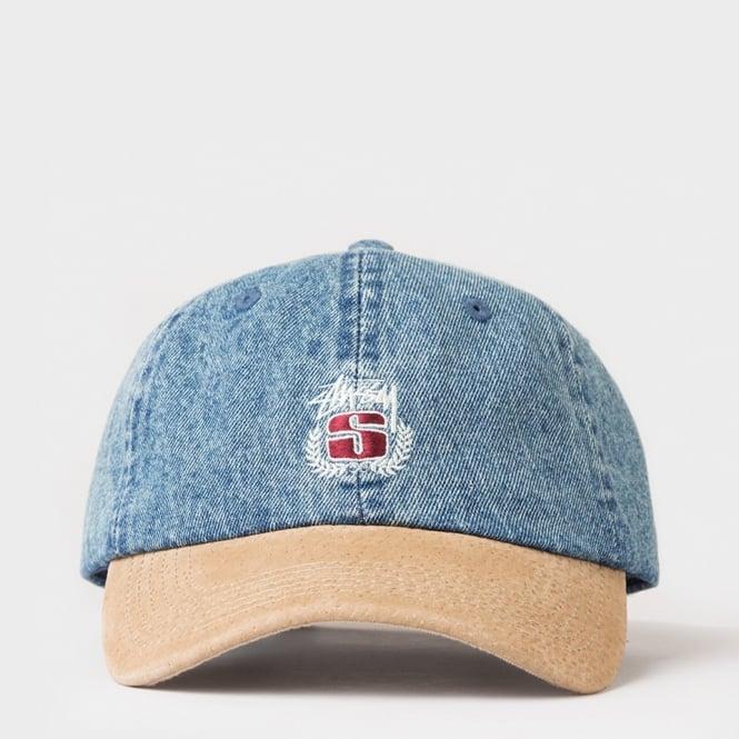 99e4846a6ca Stussy Denim Suede Crest Cap - Mens Accessories from Cooshti.com