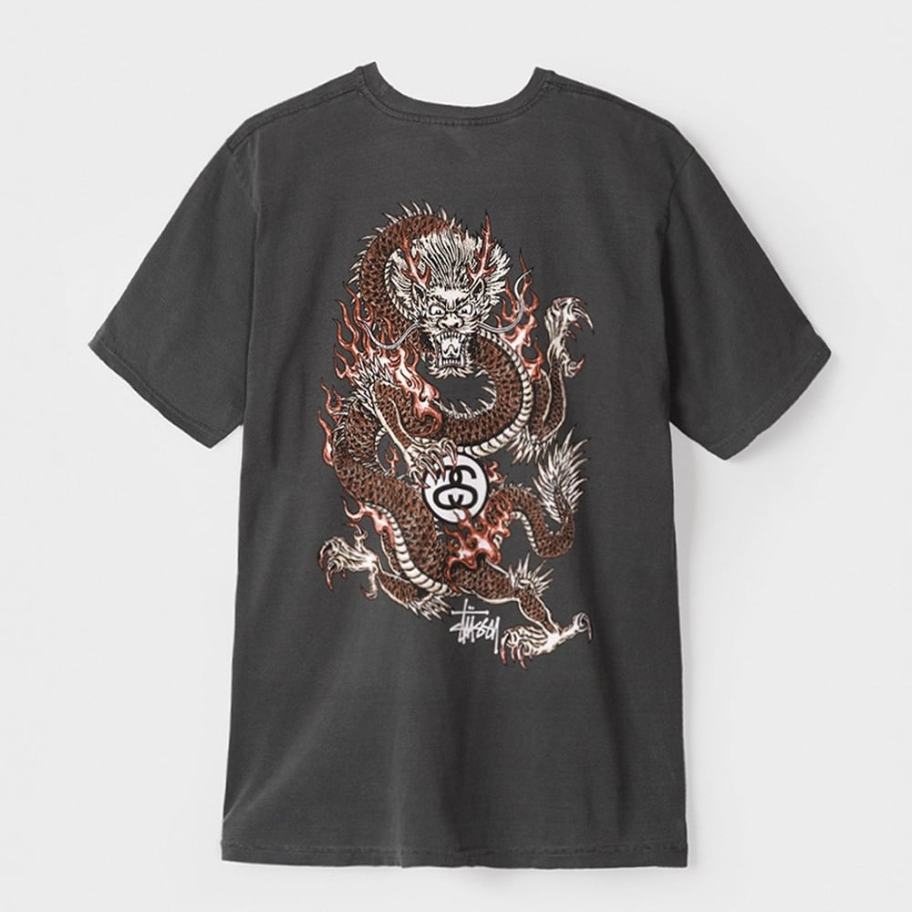 Stussy Fire Dragon Pigment Dyed T-shirt - Mens Clothing from Cooshti.com 118c72b43