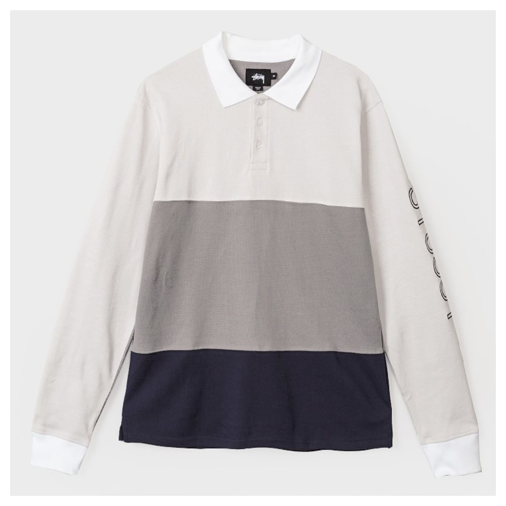 1a49670c34 Stussy Panel Pique L/s Polo - Mens Clothing from Cooshti.com