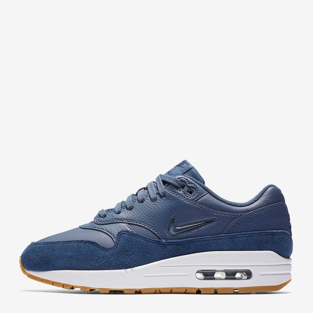 on sale 4a7a3 19666 Womens Nike Air Max 1 Premium SC Jewel Diffused Blue